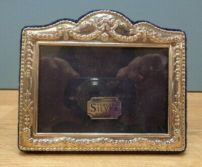 Vintage Sterling Silver Rectangular Photo Frame Hallmarked Made In England Boxed