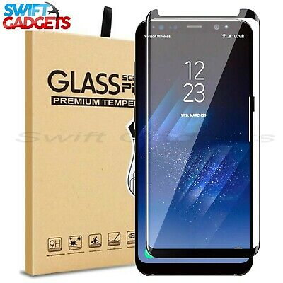 SCREEN PROTECTOR FOR SAMSUNG Galaxy S8 PLUS TEMPERED GLASS Cover - 100%  CLEAR