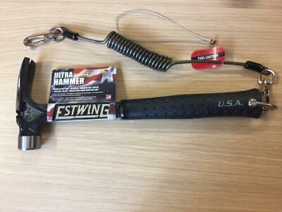 ESTWING EB/15S Ultra  Black (15oz)  Framing Hammer with D/Clamp & Tool Lanyard