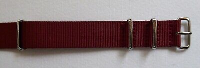 Wine Red - Nato/G10/Mod Military Style Nylon Watch Strap - 18Mm & 20Mm