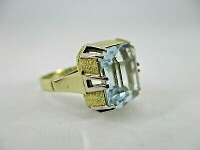 Aquamarine Gold Ring 585 gelbgold Brillant Gr.16 Diamant