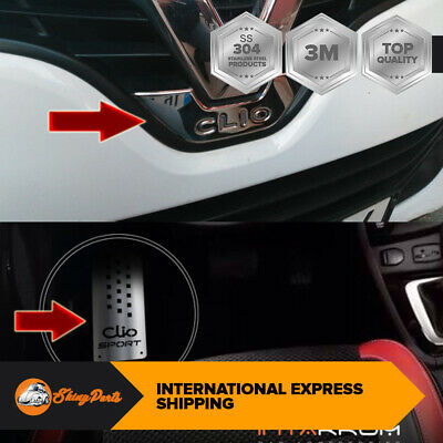 2012+ Renault CLIO IV HB Chrome Rear Logo Frame+Footrest Cover S.Stell