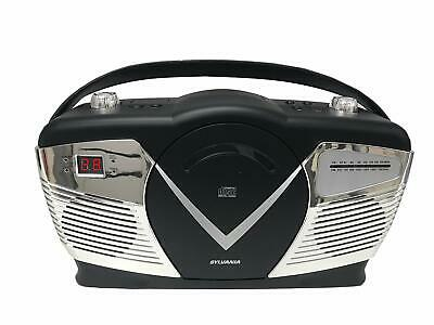 Sylvania Portable CD Boombox with AM/FM Radio, Retro Style