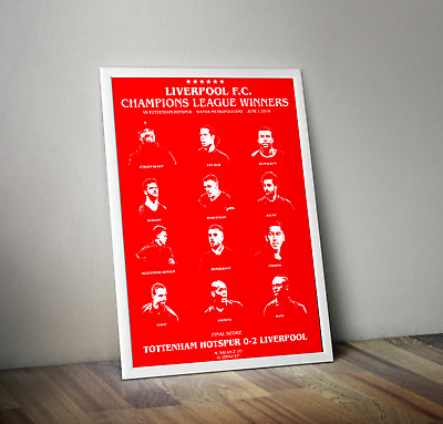 LIVERPOOL Champions League Final 2019 Memorabilia Poster GLOSSY + HIGH QUALITY