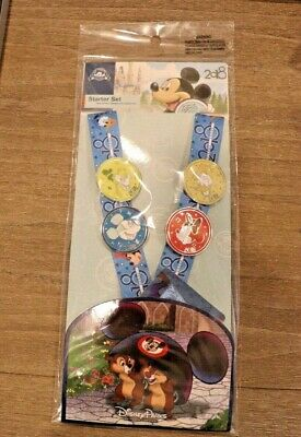 Disney Parks Pin Trading Starter Set 2018 Lanyard + Card + 4 Pins - NEW