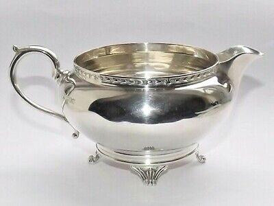 GOOD QUALITY 157g ART DECO SOLID SILVER STERLING CREAM MILK JUG SHEFFIELD 1924