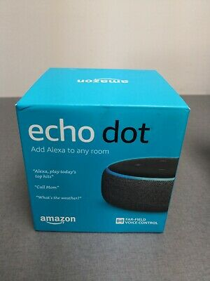 Brand New Amazon Echo Dot 3rd Generation w/ Alexa Voice Media Device - Charcoal