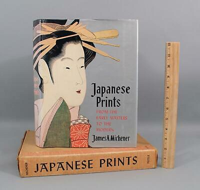 Vintage Illustrated James A. Michener Japanese Woodblock Prints Hardcover Book