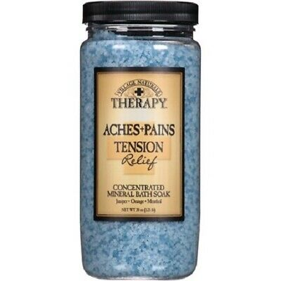 Village Naturals Therapy Aches and Pains Mineral Bath Soak Tension Relief
