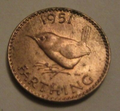 1951 farthing King George VI