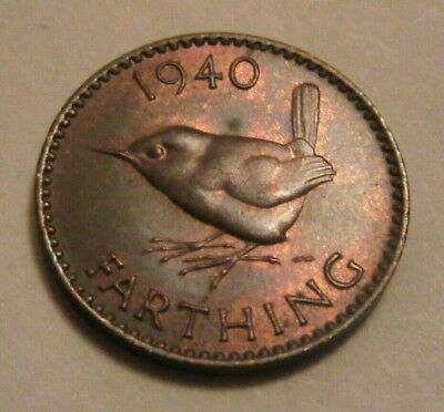 1940 farthing King George VI