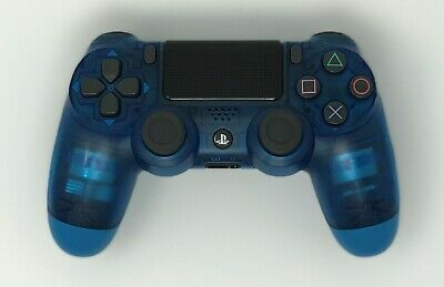 Sony PS4 Dualshock 4 Blue Crystal V2 Wireless Controller Free Two Day Shipping