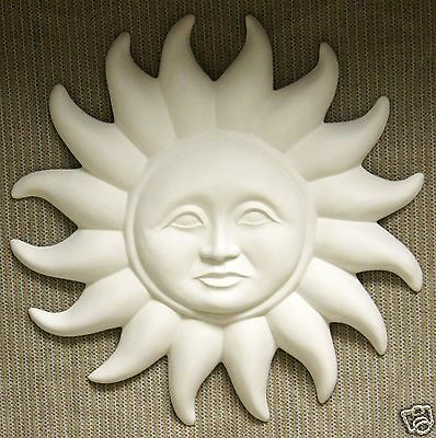 Ceramic Bisque Large Sun Dial Plaque Teddy Bear Mold 688 U-Paint Ready To Paint