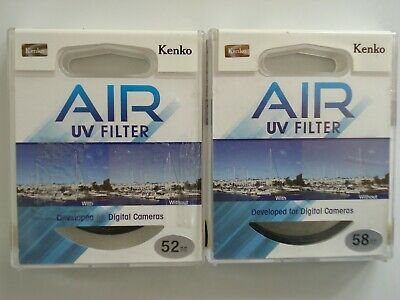 Lot 2 Original Air Uv Filter 52 58 Mm Kenko Made In The Philippines New Sealed