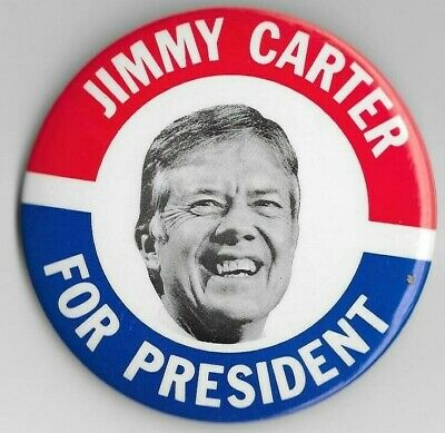 Classic 1976 Jimmy Carter FOR PRESIDENT Large Campaign Button 4062