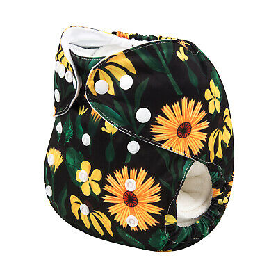 ALVABABY Cloth Diaper One Size Washable Reusable Pocket Best Nappies+1Insert