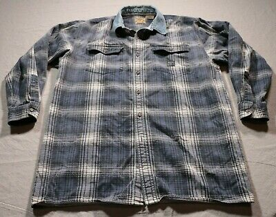 8652ac23d63a Vintage 90s Guess Jeans Long Sleeve Button Down Shirt Distressed XL Plaid