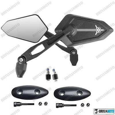 Pair Of Handlebar Rear-View Street Tmax T-Max 500 '01'/07 With Adaptors