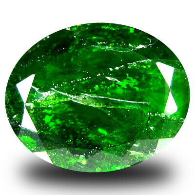 10.33 ct  Attractive Oval Shape (16 x 13 mm) Green Chrome Diopside Gemstone