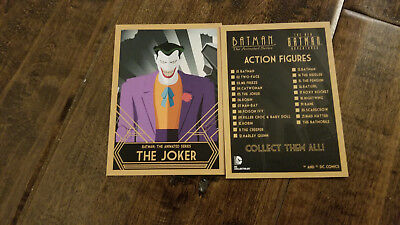 2015 Sdcc Comic con Dc Batman The Animated Series el Joker Promo Carta Raro