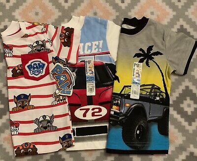 Toddler Boy Lot Of 3 Short Sleeve Tee's - Paw Patrol & Garanimals Size 2T NEW