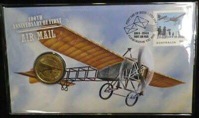 2014 100th Anniversary Air Mail PNC One Dollar ($1) Coin! In Protective Sleeve!