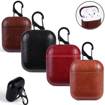Utility Genuine Leather Air pods Earphone Protective Case  For Apple Air Pod