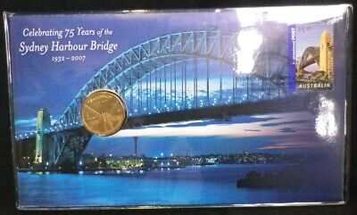 2007 Sydney Harbour Bridge 75th PNC One Dollar ($1) Coin! In Protective Sleeve!