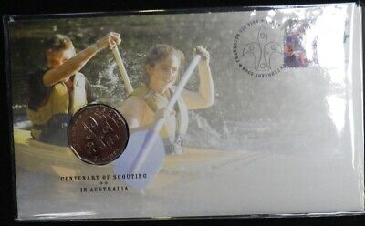2013 20 Cent CENTENARY of CANBERRA Coin /& Stamp PNC//FDC Unc in Dust Cover