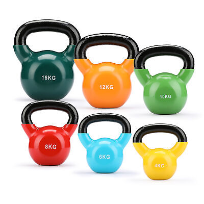 Cast Iron Kettlebells Weight Strength Training Kettlebell Exercise Gym Workout.