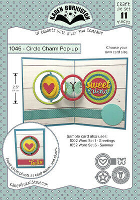 Karen Burniston Die Circle Charm Pop-Up