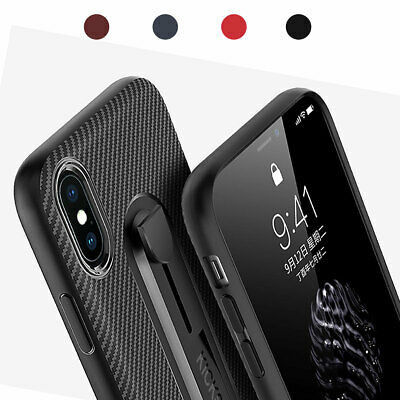 For iPhone X XS Max XR Soft Hybrid Rubber TPU Case Slim Shockproof Bumper Cover