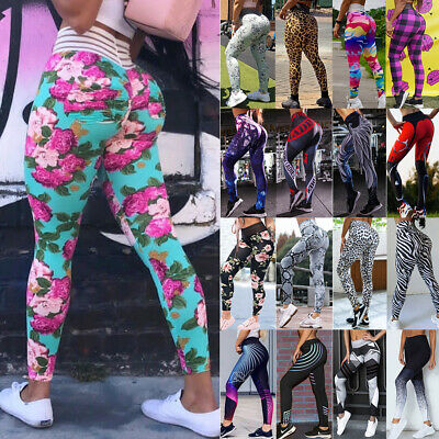 Women Ruched Yoga Pants Push Up Leggings Anti Cellulite Scrunch Sports Fitness A