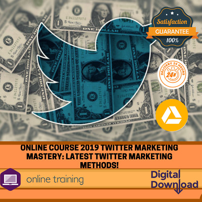 Online Course 2019 Twitter Marketing Mastery: Latest Twitter Marketing Methods!