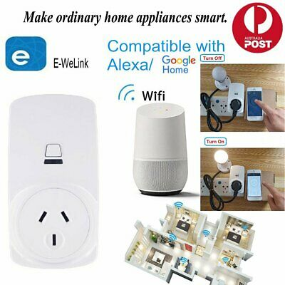 10/16A Wifi Smart Power Plug Socket Outlet Switch APP for Google Home Echo Alexa