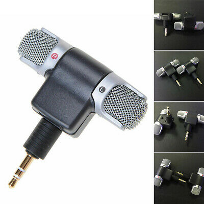 Mini Stereo Microphone 3.5mm Mic Laptop Notebook For Mobile Cell Phone / PC