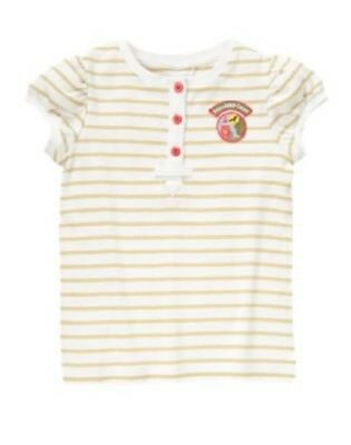 Gymboree Stripes /& Anchor Top 4 or 5 New Blue Striped Shirt Girl Nautical Twins