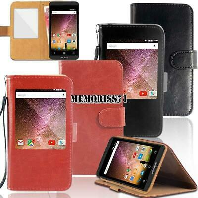 super popular 958f2 e49f8 NEW PU LEATHER Magnetic Wallet Flip Case Cover For ARGOS ALBA Mobile ...