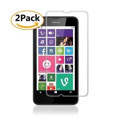2 Pack Tempered Glass Screen Protector Film For Nokia Lumia 630 / 635