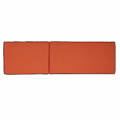 RED & BLACK REVERSIBLE Sunlounger cushion DOUBLE SIDED QUALITY THICK  LOUNGER