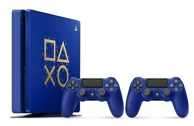 Sony PlayStation 4 slim 500 GB [Days of Play Limited Edition inkl. 2 Wireless Co