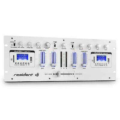 (B-WARE) 4-KANAL DJ MIXER PA MISCHPULT 2x BLUETOOTH USB SD MP3 PLAYER AUX