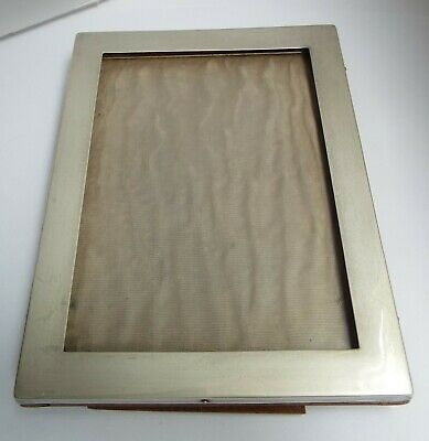 Lovely Clean Condition Genuine English Antique 1914 Sterling Silver Photo Frame