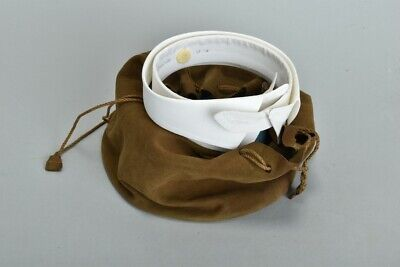 s17 Separate Shirt Collars w/ Studs & Soft Leather Bag / Case.  Ref POY