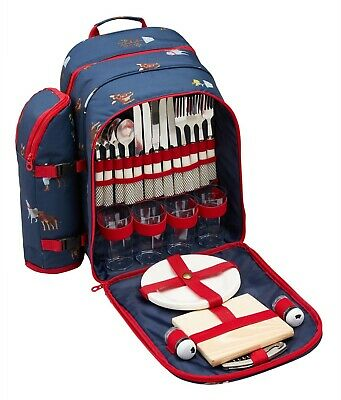 Joules Picnic Rucksack (Blue Dogs)
