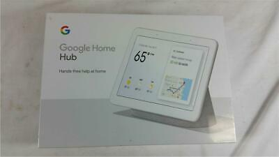 "NEW Factory Sealed Google Home Hub  7"" Touchscreen Chalk Gray GA00516-US"