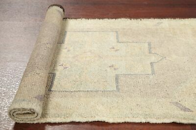 Antique 2x4 MUTED Oushak Turkish Distressed Area Rug Oriental Hand-Knotted Wool