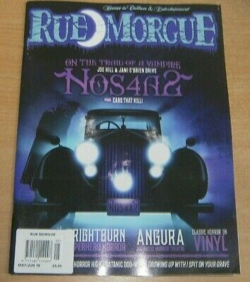 Rue Morgue magazine May/jun 2019 Nos4a2 On the Trail of a Vampire, Angura, Vinyl