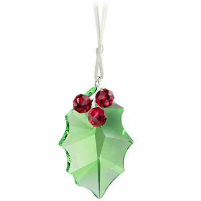 Swarovski Christmas Ornament Crystal Holly Leaf and Berry 5103222