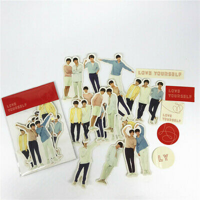 Kpop BTS LOVE YOURSELF LY TOUR Sticker 18pcs/set JUNGKOOK JIMIN SUGA RAPMONSTER
